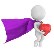 Superhero Heart (Purple Cape)