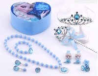 Disney Frozen Elsa Jewelry Set with Jewelry box and mirror 12 pcs