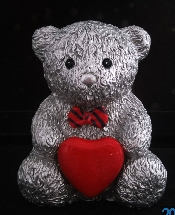 Message Teddy Bear +Red Heart