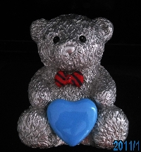 Message Teddy Bear +Blue Heart