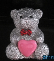 Message Teddy Bear +Pink Heart