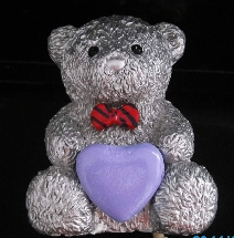 Message Teddy Bear + Purple Heart